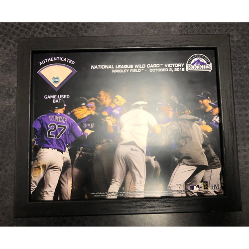 Photo of National League Wild Card Victory Elite Frame (With part of a game-used bat)