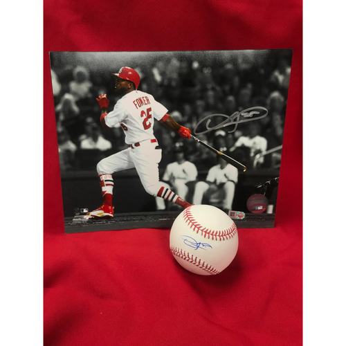 Photo of Dexter Fowler Autographed Baseball and Photo