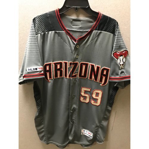 Photo of Zac Gallen 2019 Team-Issued Road Gray Jersey (Last 2019 Zac Gallen MLB authenticated jersey available)