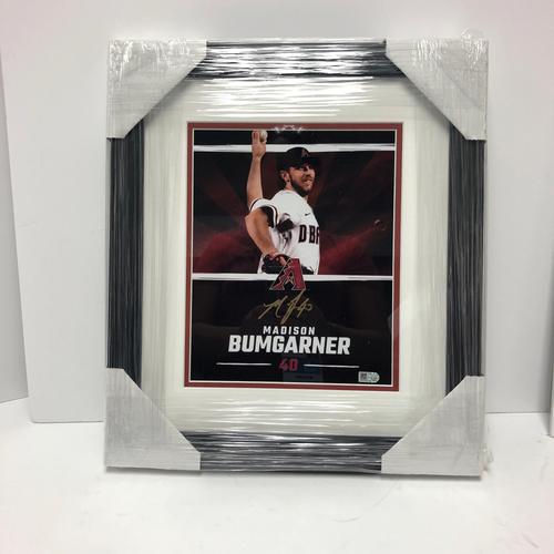 Photo of Madison Bumgarner Autographed and Framed 8x10 Photo