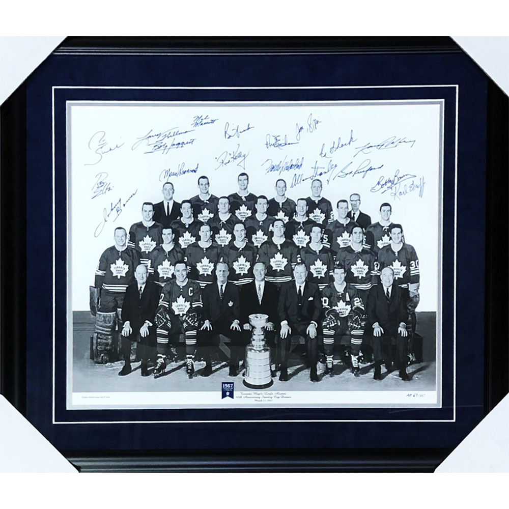 Toronto Maple Leafs 1967 Stanley Cup Champions Multi-Signed Framed 16X20 Photo - Artist Proof 67/1967