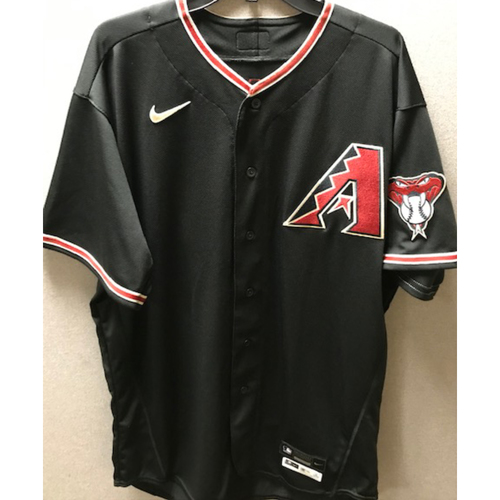 Photo of Andrew Chafin 2020 Team-Issued Black Alternate Jersey - Chafin Pitched 7 Seasons for the D-backs to a 3.68 ERA while striking out 288 batters over 271.2 Innings Pitched
