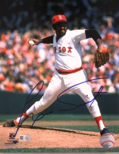 Photo of Luis Tiant Autographed Red Sox 8x10