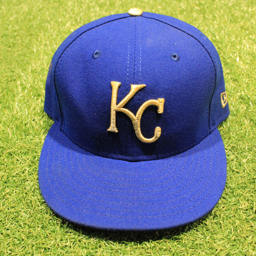 Game-Used 2020 Gold Hat: Hunter Dozier #17 (Size 7 3/8 - DET @ KC 9/25/20)