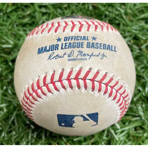 Photo of Game Used Baseball: Francisco Mejia 2RBI Single off Domingo German - April 10, 2021 v NYY