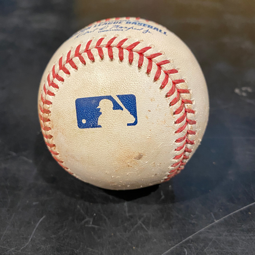 Photo of 2021 Game Used Baseball used on 4/28 vs. COL - B-4: German Marquez to Mike Tauchman - Single to 3rd Base