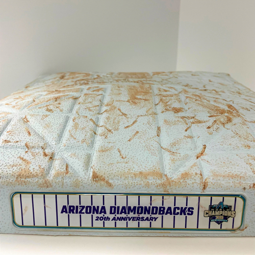 Photo of Game-Used Second Base 20th Anniversary of D-backs World Series - Mariners @ D-backs 9/4/2021