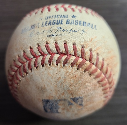 Photo of Authenticated Game Used Baseball: Strikeout by Seby Zavala against Alek Manoah (Aug 23, 2021 vs CWS). Top 3.