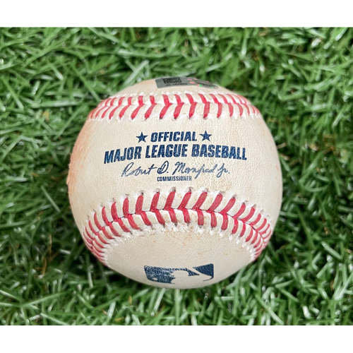 Photo of Game Used ALDS Baseball: Wander Franco, Shane McClanahan and Bobby Dalbec - Rookie Seasons - Top 2 - October 7, 2021 v BOS (See Description for Details)