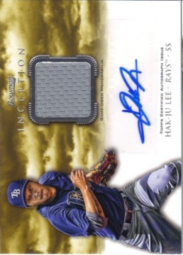 Photo of 2013 Bowman Inception Relic Autographs #HL Hak-Ju Lee
