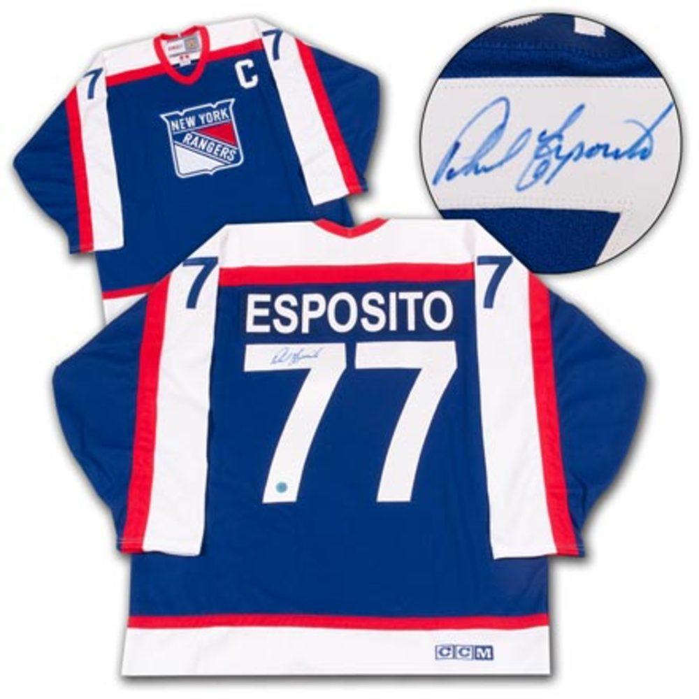 Phil Esposito New York Rangers Autographed Retro CCM Hockey Jersey