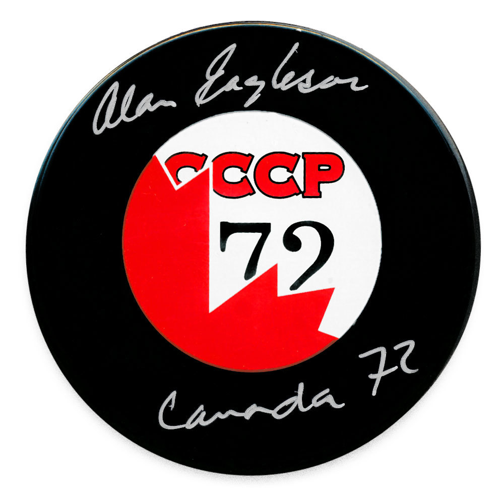 Alan Eagleson Team Canada 1972 Summit Series Autographed Puck