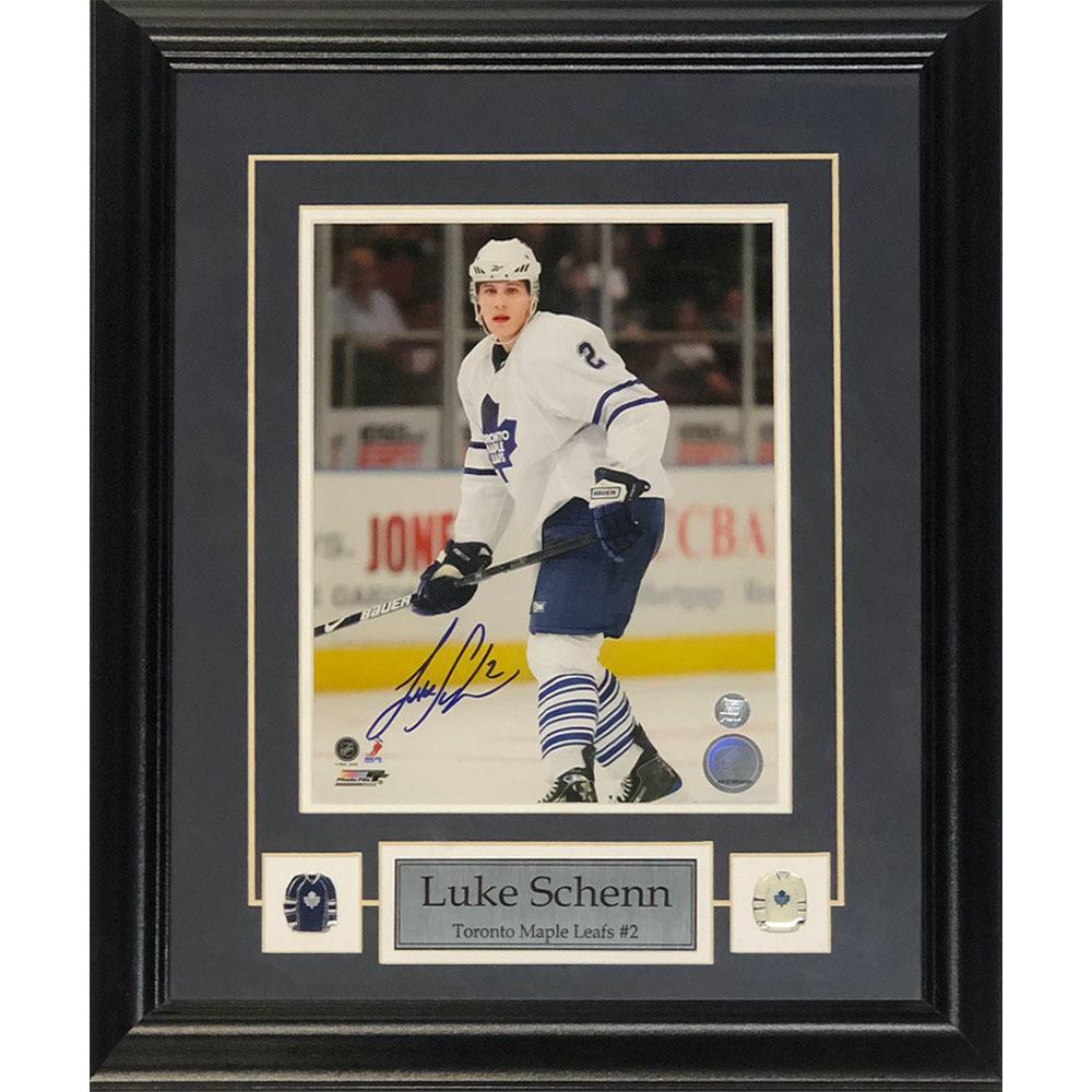 Luke Schenn Autographed Toronto Maple Leafs Framed 8X10 Photo