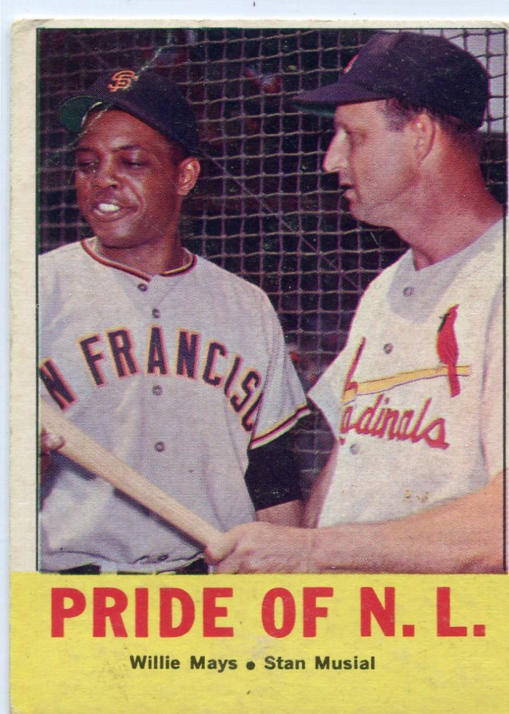 1963 Topps #138 Pride of NL/Willie Mays/Stan Musial