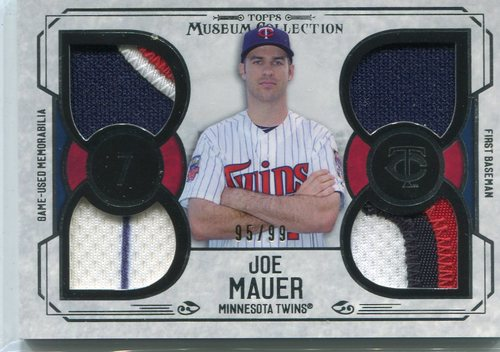 Photo of 2016 Topps Museum Collection Primary Pieces Quad Relics 95/99 Joe Mauer