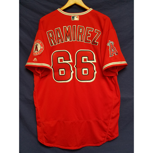 Photo of JC Ramirez Alternate Red Team-Issued Jersey