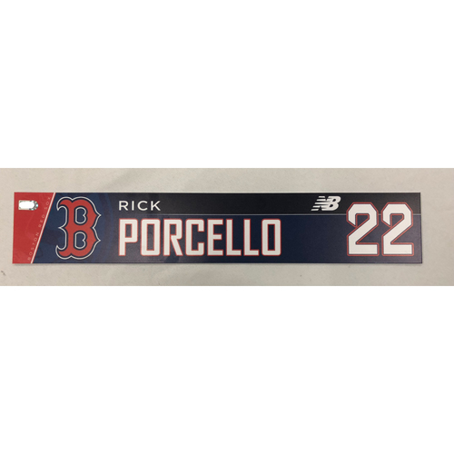 Photo of Rick Porcello Game-Used April 5, 2018 Locker Tag