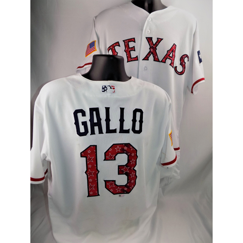 Photo of Joey Gallo Game-Used Stars & Stripes Jersey - 7/4/2018  - Size 48