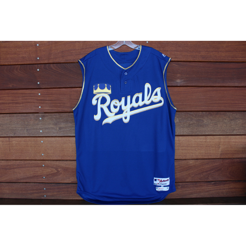 Photo of Game-Used Turn Ahead the Clock Jersey: Ned Yost  (Size 48 - KC at SEA - 6/30/18)