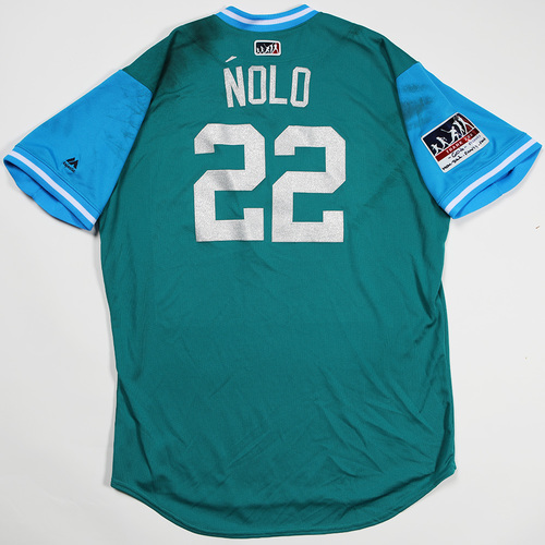"Photo of Robinson ""Nolo"" Cano Seattle Mariners Game-Used Players' Weekend Jersey"