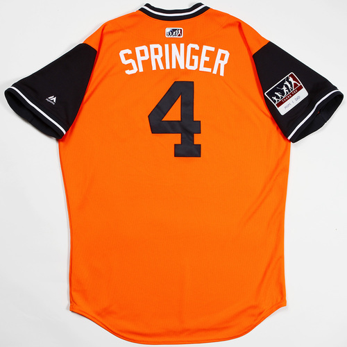 "Photo of George ""Springer"" Springer Houston Astros Game-Used 2018 Players' Weekend Jersey"