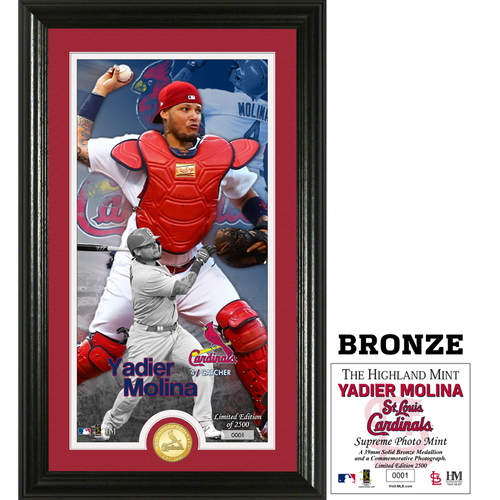 Photo of Yadier Molina Supreme Bronze Coin Photo Mint