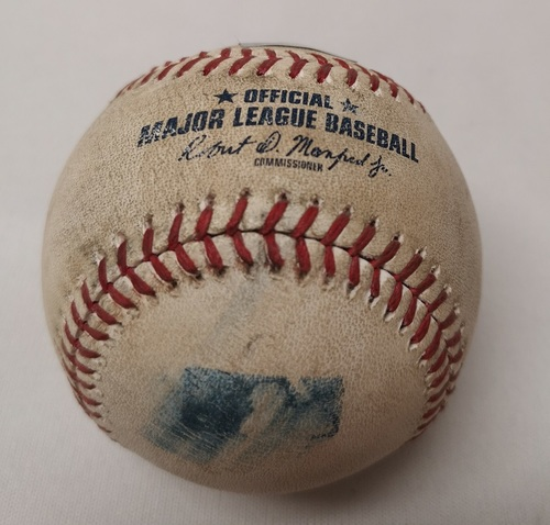 Photo of Authenticated Game Used Baseball - Lucas Duda Single against Nick Tepesch (August 14, 2017 vs TB). Top 3.