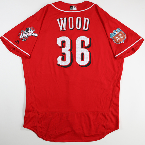 Photo of 2016  Spring Training -  Spring Training Used Jersey - Blake Wood (Reds) - Size 50