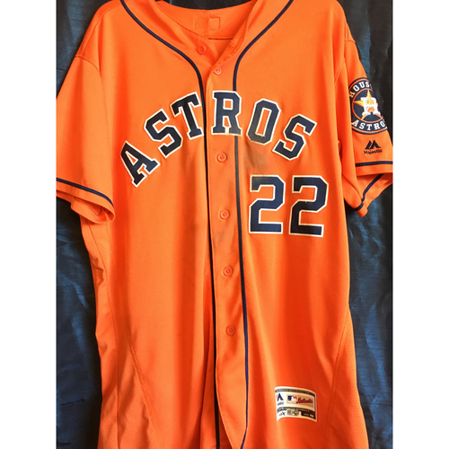 Photo of Josh Reddick 2018 Game-Used Jersey (9/29/18)