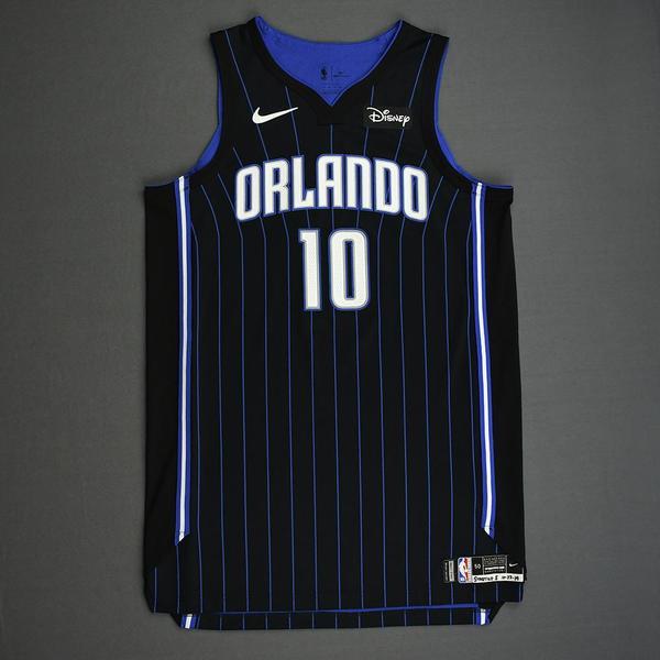 Image of Evan Fournier - Orlando Magic - Kia NBA Tip-Off 2019 - Game-Worn Icon Edition Jersey