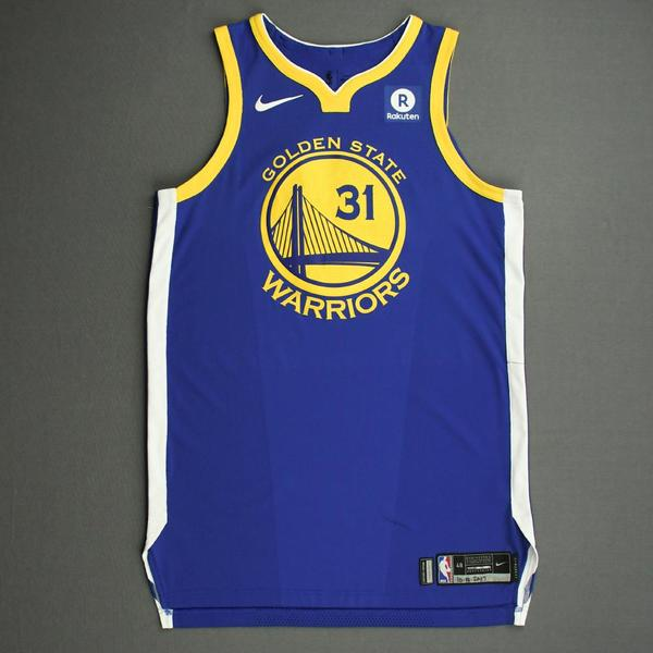 Image of Georges Niang - Golden State Warriors - NBA China Games - Game-Worn Icon Edition Jersey - 2017-18 NBA Season