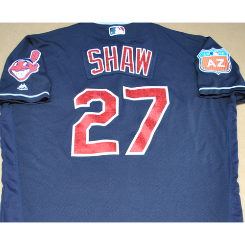 Photo of Game-Used 2016 Spring Training Jersey - Bryan Shaw - Size 48 - Cleveland Indians