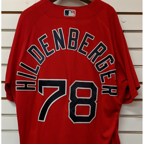 Photo of Trevor Hildenberger #78 Team Issued Nike Red Spring Training Jersey
