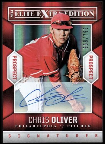 Photo of 2014 Elite Extra Edition Prospects Signatures #49 Chris Oliver/799