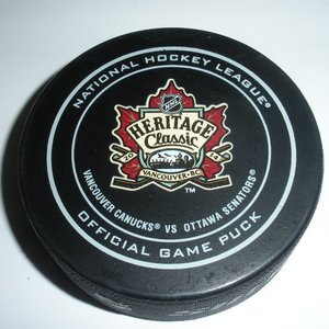 2014 Heritage Classic - Vancouver Canucks - #9 Zack Kassian - Goal Puck #2 - First Period