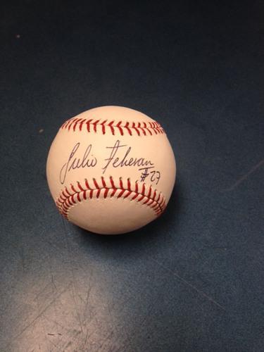 Braves Charity Auction: Julio Teheran Autographed Baseball