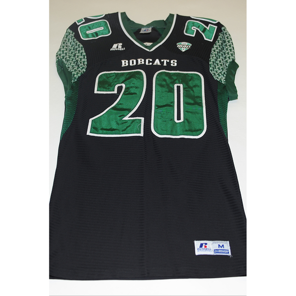 Photo of # 20 - Official OHIO BOBCATS Game Worn Football Jersey (2011) - SIZE MEDIUM