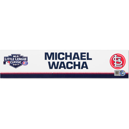 Photo of St. Louis Cardinals Game-Used Locker Name Plate, Michael Wacha #52