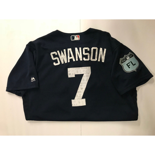 Dansby Swanson Game Used 2017 Spring Training Jersey - 3/19/2017
