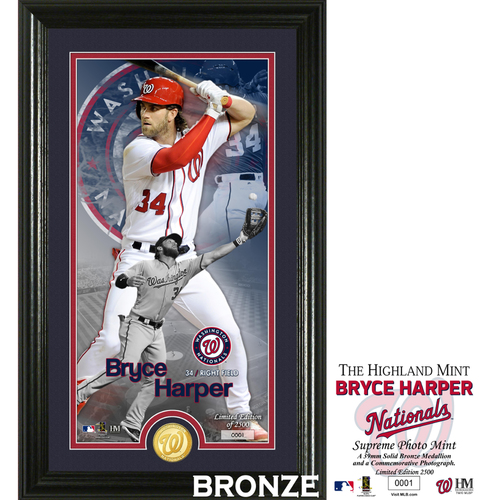 Photo of Bryce Harper Supreme Bronze Coin Photo Mint