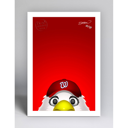 Photo of Screech - Limited Edition Minimalist Mascot Art Print by S. Preston  - Washington Nationals