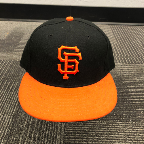 Photo of 2016 Team Issued Orange Bill Cap - #7 Gregor Blanco - Size 7 1/8