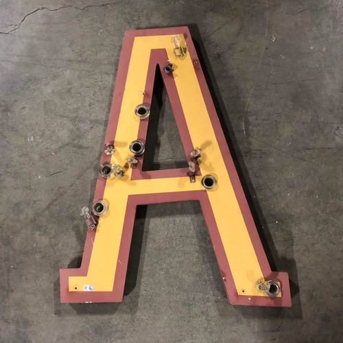 "Photo of AT&T Park Neon Letter ""A"" - 24""x18""x1"""