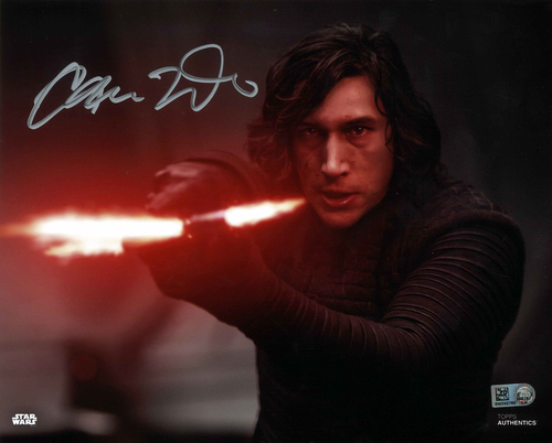 Adam Driver As Kylo Ren 8X10 Autographed IN 'SILVER' INK PHOTO