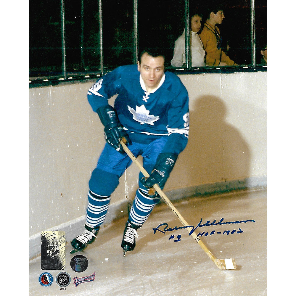 Norm Ullman Autographed Toronto Maple Leafs 8X10 Photo w/HOF 1982 Inscription