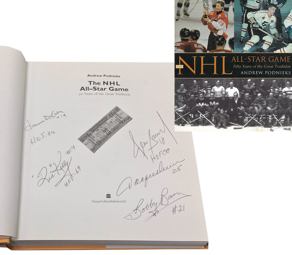 The NHL All-Star Game Multi-Signed Book - Keon, Kelly, Savard, Lemaire & Baun