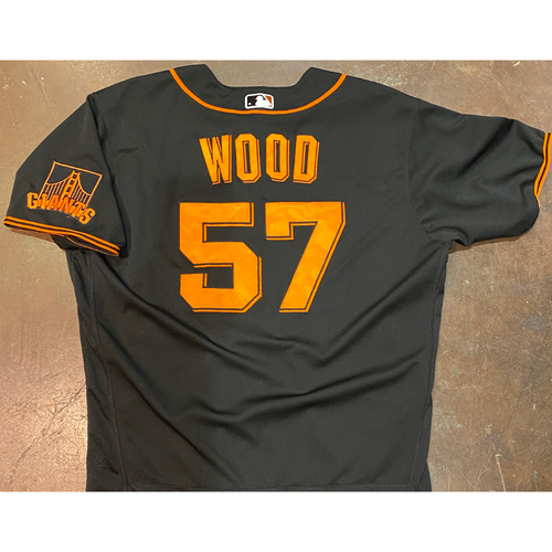 Photo of 2021 Team Issued Black Home Alt Jersey - #57 Alex Wood - Size 48