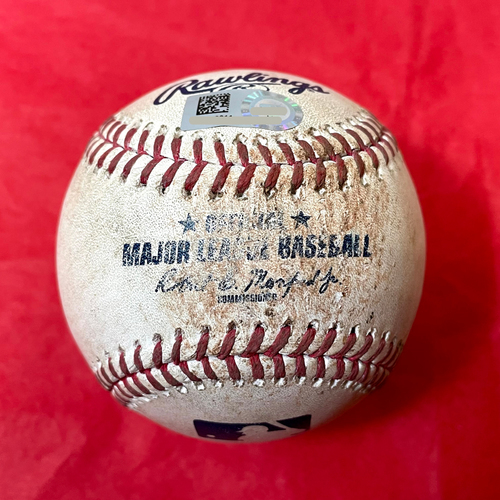Photo of Game-Used Baseball - Tommy Pham Double vs. Caleb Smith - Padres @ D-backs 8/12/2021