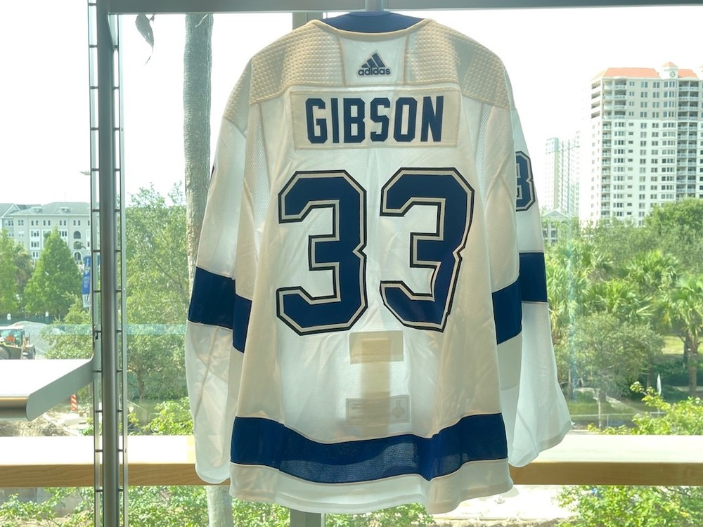 #33 Christopher Gibson Tampa Bay Lightning 2021 Stanley Cup Final Game-Issued Jersey
