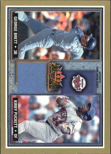 Photo of 2002 Fleer Fall Classics Rival Factions Game Used #6 George Brett Jsy-Kirby/200